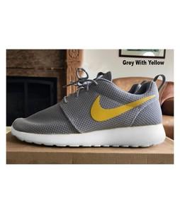 BoultonMarket Roshe Run Shoes For Men Dark Grey/Yellow