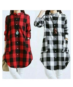 RGshop Pack of 2 Check Shirts For Women