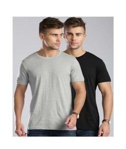 The Look Cotton Round Neck T-Shirts For Men Pack of 2