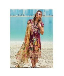 Rang Rasiya Carnation Luxury Womens Lawn Collection 2018 (1015B)