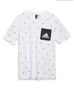 Next Adidas Printed Small Logo Mens T-Shirt White (903-835)