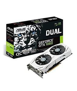 Asus Dual Series GeForce GTX 1060 OC Edition 6GB Graphics Card (DUAL-GTX1060-O6G)