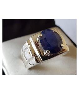Rings Portal Natural Sapphire Neelam Ring For Men - Blue