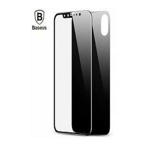 Baseus Glass Screen Protector For iPhone X Black
