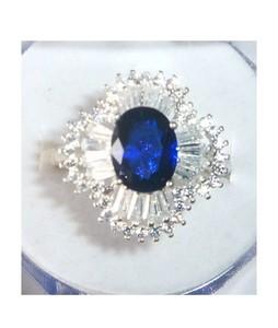 Gilgit Bazar Topaz Ring For Women Blue (GB359)