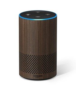 Amazon Echo 2nd Generation Smart Speaker Walnut Finish