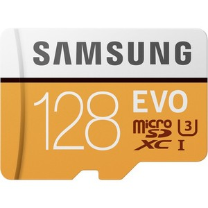 Samsung 128GB EVO UHS-I microSDXC Class 10 Memory Card with SD Adapter