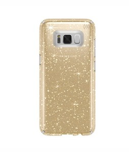 Speck Presidio Clear + Glitter Gold Case For Galaxy S8