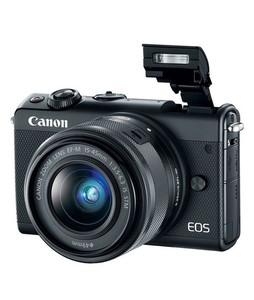Canon EOS M100 Mirrorless Digital Camera With 15-45mm Lens Black - MBM Warranty