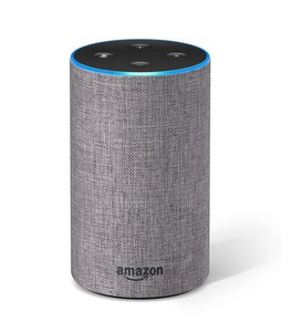 Amazon Echo 2nd Generation Smart Speaker Heather Gray Fabric