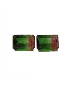 Mujahid Traders Tourmaline Diamond Cut Stone For Ring Green - 6 Crt