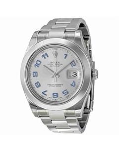 Rolex Datejust II Mens Watch Silver (116300RBLAO)