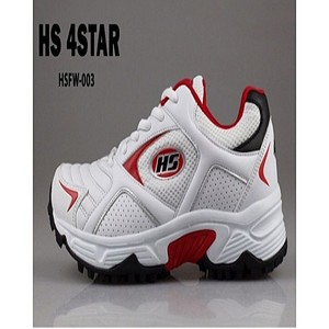 HS Cricket Shoes For Men Hs 4 Star White & Red