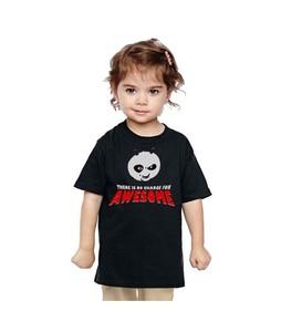 C-Tees Kung Fu Panda Print T-Shirt For Girls Black (CKT10086)