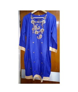 Sports Intelligence Embroidered Kurti For Women Blue