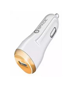 Space Adaptive Fast Car Charger Single Port White (CC-170)