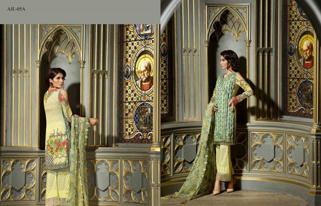 Asim Jofa Embroidered Luxury Lawn Collection 2018 Pearl White (AJL-05A)