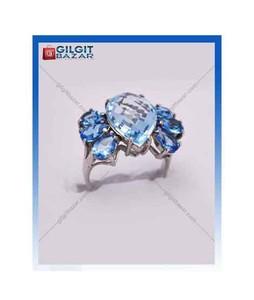 Gilgit Bazar Golden Topaz Stone Ring For Women (GB1148)