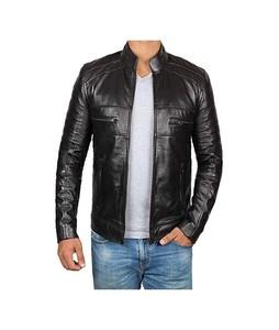 Diamond Fashion Stylish Biker Leather Jacket For Men