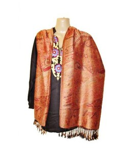 SubKuch Jamawar Silk Pashmina Shawl For Women (0214)
