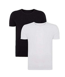 Rubian Cotton Round Neck T-Shirt For Men Pack Of 2