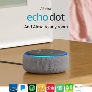 Amazon Echo Dot 3rd Generation Smart Speaker Heather Gray