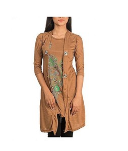 Bindas Collection Viscose Shrug Style Top For Women Skin (IL-0042)