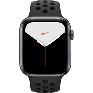 Apple Watch Series 5 44mm Space Gray Aluminum Case with Black Nike Sport Band - GPS (MX3W2)