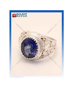 Gilgit Bazar Sapphire Stone Ring For Men (GB1192)
