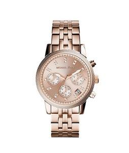 Michael Kors Ritz Womens Watch Rose Gold (MK6077)