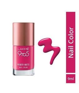 Lakme 9To5 Primer+Matt Nails Magenta Matte 9Ml