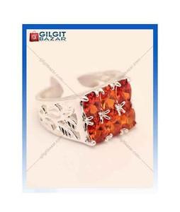 Gilgit Bazar Topaz Stone Ring For Men Red (GB1198)