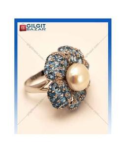 Gilgit Bazar Blue Topaz Ring (GB1334)