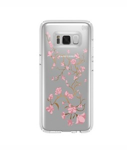 Speck Presidio Clear + Print Golden Blossoms Pink Case For Galaxy S8