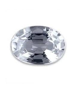 Mujahid Traders Pukhraj Diamond Stone For Ring White - 10 Crt