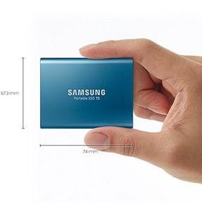 Samsung T5 5000GB Portable External SSD USB 3.1 Blue (MU-PA500B)
