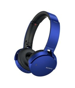 Sony Extra Bass Wireless Bluetooth On-Ear Headphones Blue (MDR-XB650BT)