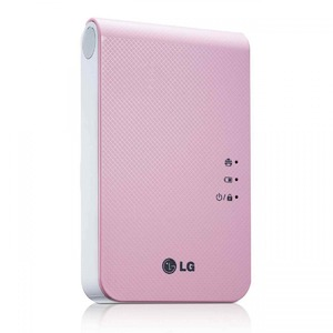 LG Portable Mobile Pocket Photo Printer Pink (PD241T)