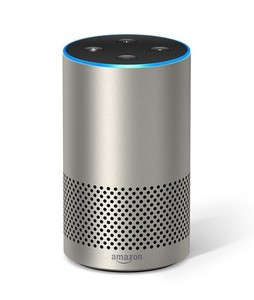 Amazon Echo 2nd Generation Smart Speaker Silver Finish