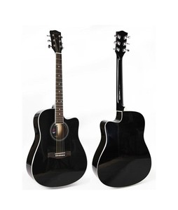 Forbes Store Cutaway Linden Body Acoustic Guitar 40 inch Black
