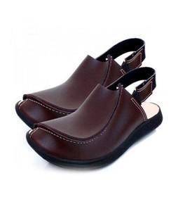 Rosh Gallery Leather Peshawari Sandals For Men Brown