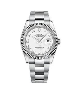 Rolex Datejust 36 Mens Watch Silver (116234-WHTRO)