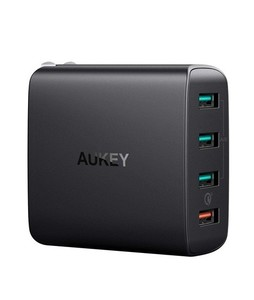 Aukey Amp 4-Port Wall Charger with Quick Charge 3.0 Black (PA-T18)