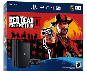 Sony Playstation 4 Pro 1TB Console - Rockstar Red Dead Redemption 2 Bundle