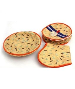 SaharCollection4u Roti Basket Pack Of 3 - Multicolor