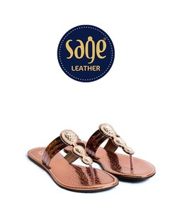 Sage Leather Slippers For Women Copper (9668)
