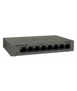 Netgear 8-Port Gigabit Unmanaged Switch Silver (GS308100PAS)