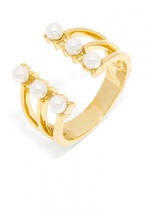 Baublebar Pearl Crown Gold Ring