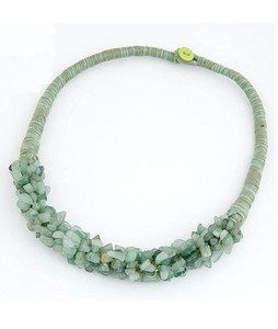 ZardiPK Stone Necklace For Women Green (AN31)