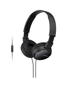 Sony On Ear Extra Bass Headphone Black (MDR-ZX110AP)